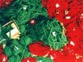 Günther, 1994, Insatallationsmaterial rote und grüne Wolle